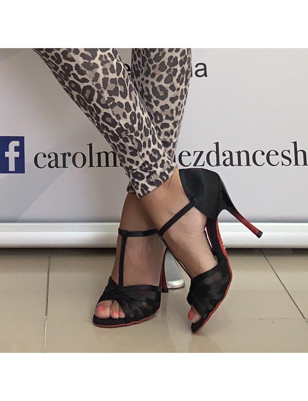 Rojo Latino Baile De Tacón Zapatos Y Negro 2WEH9DI