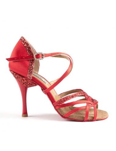 Zapatos de salsa rojo tacon...