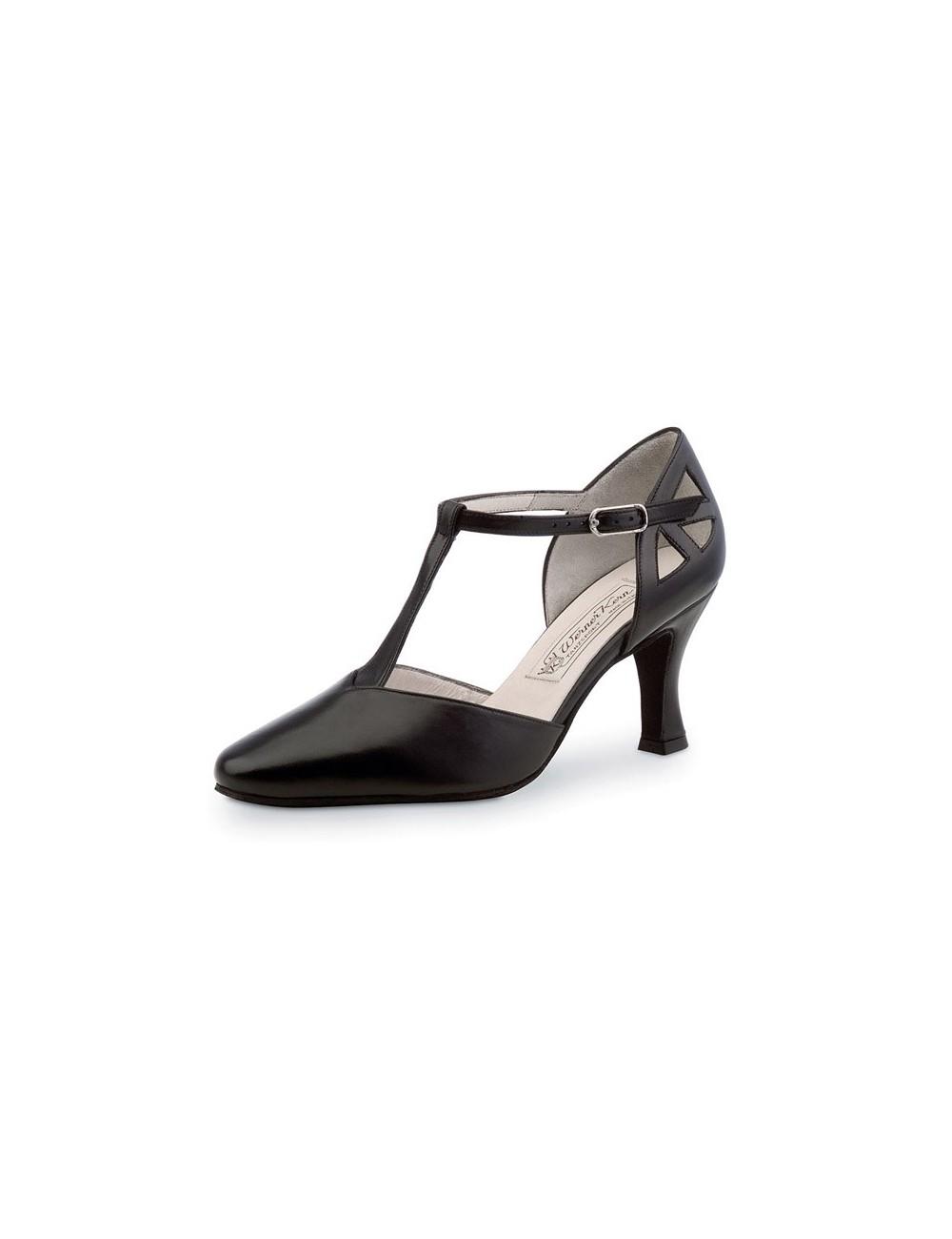 a144b47e Zapato baile negro cerrado elegante. Zapatos de salsa , bachata y bailes  latinos y de salon para mujer. Fabricados en piel de color negro y de punta  cerrada ...