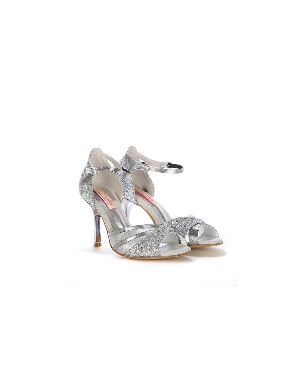 De Plata Zapatos Brillantes Latino Baile WBoxCQrde
