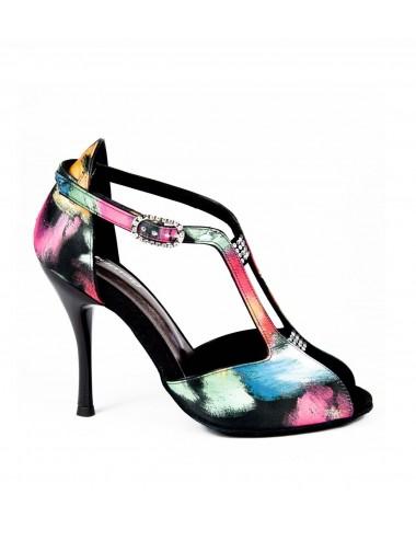 Zapato de baile multicolor