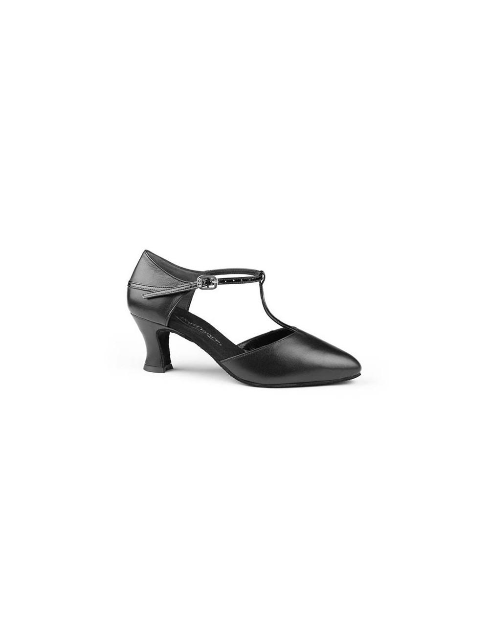 56dda794 Zapatos de baile de salon negro cerrado tira central. Clásico calzado de  señora para bailar Tango u bailes latinos , estos zapatos de baile de tacón  bajito ...