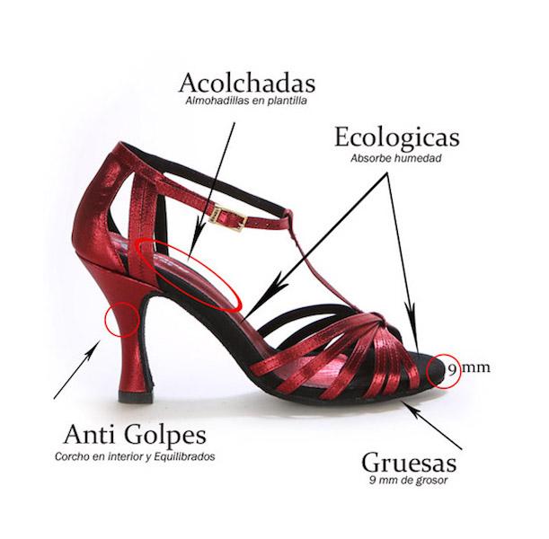 zapatos de salsa cómodos